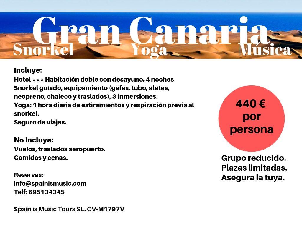 Snorkel y música en Gran Canaria