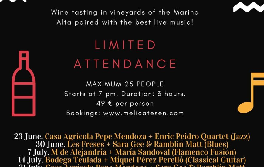 Marina Alta's Cellars let the music sound in their vineyards